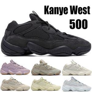 Desert крыса 500 Top Kanye West кроссовок отражающего Bone белый Полезность черный мягкий Вижны мужчины спортивных кроссовок Stone Румяна Соль Трейнеры