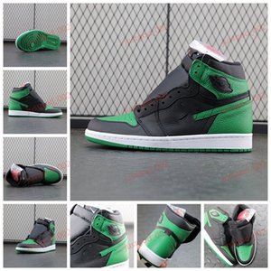 xshfbcl Jumpman 1 High OG pine green black Basketball shoes obisidian UNC 1s Black Game Royal Men women Sport stylist Sneakers Trainers