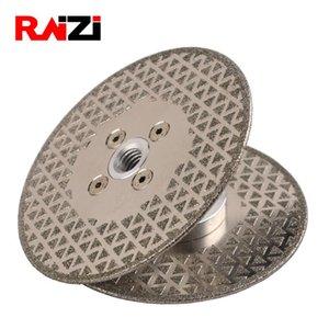 Raizi 125 milímetros / 180 milímetros Electroplated Double Side Diamond Coated Cutting Saw lâmina de corte Disco Para Marble (grátis)