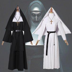 hayalet NUN sahne performansı kostüm büyük boy nv Fu Zhuang nv Fu Zhuang giyim kadın giyim NUN kostüm papaz cübbesi