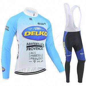 2020 2020 Fleece Pro Team Delko Cloth Band Marsella Provenza Italia Poder ciclismo Jersey kit transpirable ciclo MTB Ropa Ciclismo Gel P. PBLe #