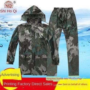 dHrOO Moda Camouflage homens adultos Cloak macacão publicidade poncho Moda Camouflage adulto bicicleta roupas do corpo Cloak roupas do corpo jumpsu