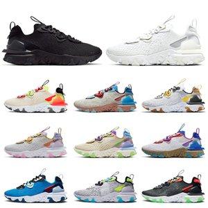 Nike React Vision Epic react element 55 87 off white gucci حار بيع الأسهم x إمرأة حذاء الجري الثلاثي أبيض أسود الرؤية الفوتون الغبار المدربين رياضية