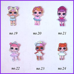 """100 BLESSING Good Girl 1.75"""" B- LOL FROZEN Doll Unicorn Rainbow Baby Accessories Wholesale Y200710"""
