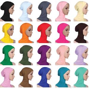 Musulmana Hijab donne sciarpa coperchio interno solido di colore Plain underscarf protezione della sciarpa 20 colori cotone mercerizzato Berretto a signore Turbante musulmana