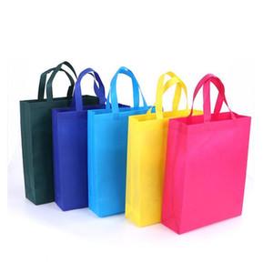 Non-tissé Sac emballage pliable Sacs d'épicerie en tissu Sacs réutilisables Sac Eco-Friendly Paquet pratique d'épicerie Paquet DHC553