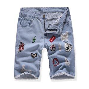 Erkekler Yaz Kısa Jeans Casual Jean Şort Skate Board İnce Moda Jeans # 3L29