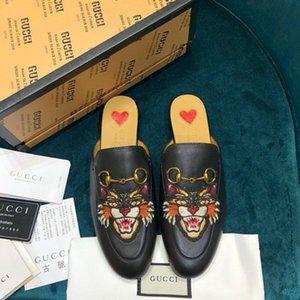 High-end delle donne di lusso fashionDesigner s scarpe partito casuali senza scarpe mezzo pantofole donne piattaforma d'epoca s lacci mocassini