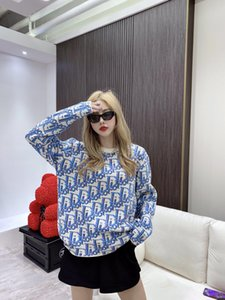Neue Damen Frauenentwerfer Pferd Pullover Art und Weise Hip-Hop-Volldruck einfache Atmosphäre komfortable Männer und Frauen gleicher Stil wilde Pullover