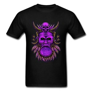 Tribe Pharaoh Skull Normal Tops Tees 2020 High Quality Pure Cotton Summer Round Neck Top T-shirts Comfortable Tees Plain