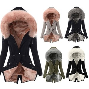 2020 Winter Jacket Women Big Fur Belt Hooded Thick Down Parkas X-Long Female Jacket Coat Slim Warm Winter Outwear large size 3xl
