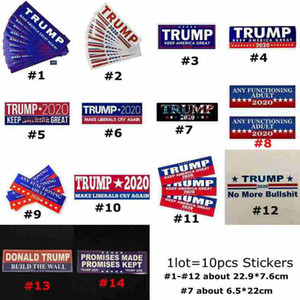 Donald Trump 2020 Car Stickers 7.6*22.9cm Bumper Sticker Keep Make America Great Decal for Car Styling Vehicle Paster 14Styles CYZ2588