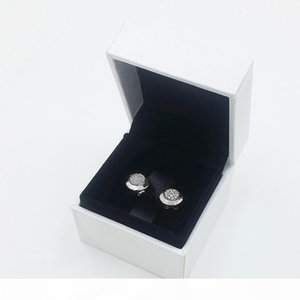 O 100 %Real Sterling Silver Stud Earrings Ear Ring For Women With Original Gift Box For Pandora Style Earring