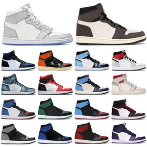 nike air jordan retro 1 dior off white Herren Basketballschuhe 1s High Og Jumpman Obsidian Royal Toe Hell Rauchgrau UNC Patent Satin Schwarz Männer Frauen Trainer Sport Turnschuhe
