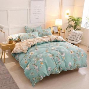 Completa re Doppia Queen Size 3 / completi letto Copripiumino lenzuolo di lino federa letto di lusso Consolatore California King letto di Lu kK5C #