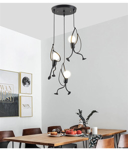 Chandeliers,Wrought Iron Vintage Creative Swing Villain Chandelier Square Base Iron Art 3 Light Fixtures for Bedroom Dining Room