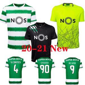 20 21 Sporting Clube camisas de futebol de Sporting CP Lisboa Fußball Trikots PHELLYPE 2020 2020 B.FERNANDES Futebol LISBOA DOST Homens