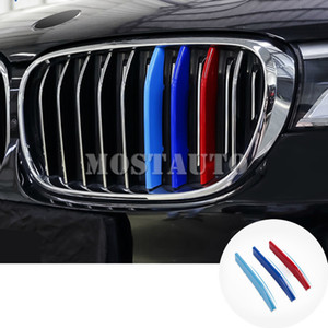 For BMW 7 Series G11 G12 ABS Front Grill Grille Insert Trim Cover 2016-2020 3pcs