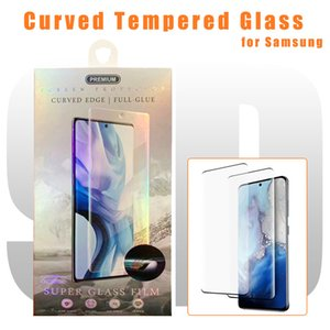 New Tempered Glass Screen Protector for S20 PLUS Note 10 S10 5G S7 EDGE S9 Protector Film Glue on Edge Screen Protector DHL FEDEX