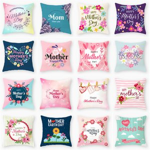 mother's day pillowcase happy mother day peach skin pillowcase home sofa cushion cover office seat pillow covers