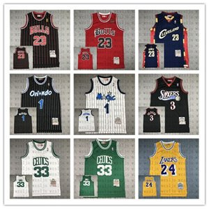 Michael James hommes 23 mcgrady Hardaway 1 oiseau colline 33 iverson 3 johnson 2 All-Star Mitchell Ness Classics joueur Throwback Jersey