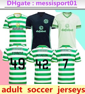 20 21 Celtic FC Football Maillots MCGREGOR GRIFFITHS 2020 2021 Klimala FORREST BROWN Rogić CHRISTIE EDOUARD Accueil Hommes Chemises Football