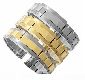 Luxury Watchband 20mm Watch Band Strap 316L Stainless Steel Bracelet Curved End Silver Watch Accessories Suitable for Water ghost watches