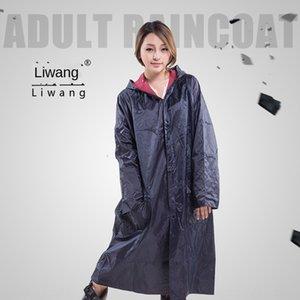 kzsJg Li Wang adult outdoor hiking Oxford cloth pocket long labor protection raincoat Oxford windbreaker Cloak windbreaker poncho for men an
