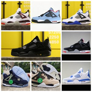 2020 Bred Black Cat inJordan4 4s Basketball Shoes Jumpman Mens White Cement Encore Wings Fire Red Singles IV Pure Money Trainers