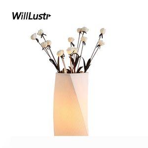 Art Deco Tabla de cerámica Arreglo lámpara de porcelana florero luz del escritorio hotel Salón Estudio creativo de noche nupcial de iluminación