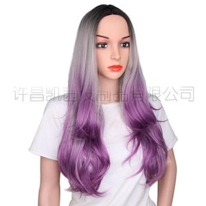 Omber Lace Front Wigs for Women Best Synthetic Hair Wavy Wig 24 inches Cosplay Wig Heat Safe Role-playing Christmas Wigs