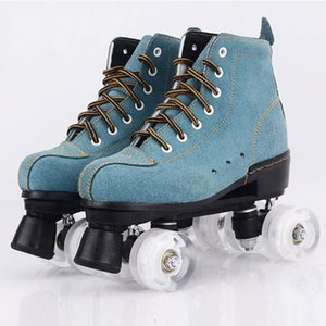 Nouveau style adulte double rangée patinage adultes à quatre roues motrices des femmes kraft de patins à roulettes flash PU