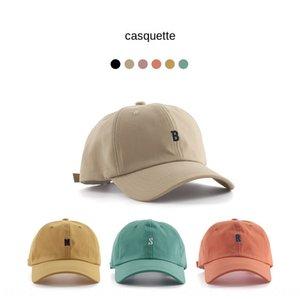 ins fashionable women Summer Korean style all-match simple letter soft top baseball cap casual baseball cap summer sun hat