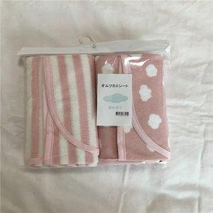 목화 아기 침대 천 패드 방수 아기 침대 기저귀 통기성 빨 신생아 기저귀 패드 2 팩