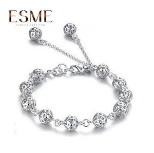 Women's bracelet jewelry silver plated bracelet hollow ball Taobao Korean style jewelry