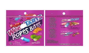 Vider 500mg Weedtarts Cordes Morsures bonbons sac d'emballage gummies Dank Dank Nerds corde corde corde bonbons Nerds sacs Gummy