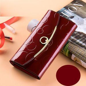 Geldbörse aus Leder Spitzenqulaity Designer Wome lange Kuhfell europäischen und amerikanischen Mode Atmosphäre einfache Handtasche Frau Designer Umschlag Taschen
