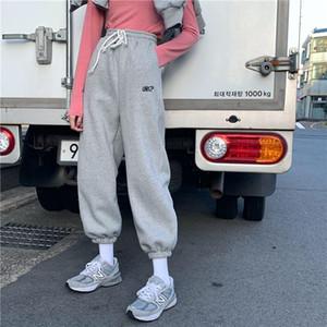 EACHIN Женщины Спорт Drawstring беговые брюки зима теплая Сыпучие Sportwear Брюки Женская мода Повседневная Streetwear штанах