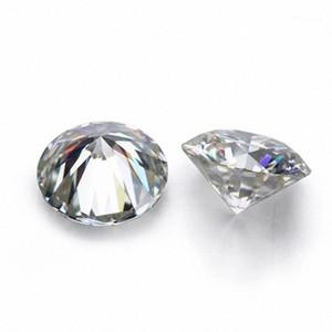 D Blanco Color de VVS forma redonda suelta sintético Moissanite diamante 0.6CT a 2CT Excelente Cut1 yOyD #
