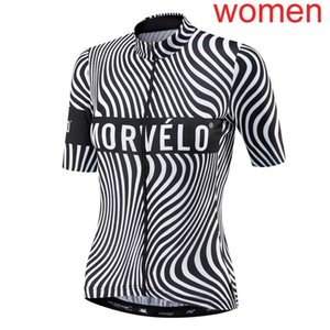 2020 MORVELO team women Cycling Short Sleeves jersey racing clothing breathable outdoor mountain bike shirt Sports uniform Y20070801