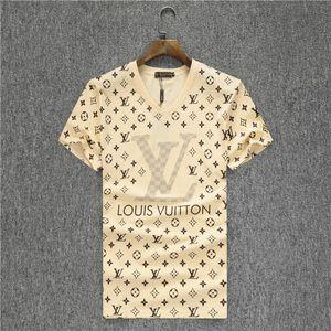 Nouveau costume de jogging Desinger haut chemise en bas de bande blanche T-shirt des hommes de mode moitié col rond manches des vêtements de mode T-shirt