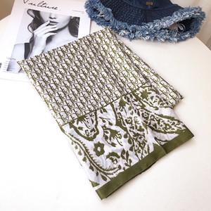 Top Designer lenço sl e loilk Primavera lenço de seda de 2020 mulheres quentes dos homens Carta shawng macia de seda cachecóis xale na primavera Autum T0061