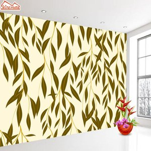 Custom 3D Photo Wall Paper Murals Wallpaper Luxury Embossed Flower Leaves Modern Living Room Dining Room Background Mural Rolls
