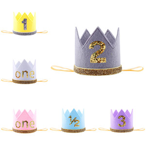 Baby Girl Упругие розы Ткань Корона оголовье Headwrap детей шнурка волос головной убор цветок диапазона волос Birthday Party