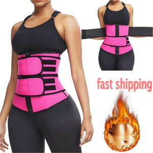 US Shipping!!! In Stock Body Shaper Wrap Belt Waist Trainer Cincher Corset Fitness Sweat Belt Girdle Shapewear