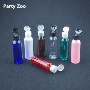 200 X 60ML di plastica PET trasparente bottiglia vuota Bottiglie di viaggio liquido lozione Dispenser Campione Bianco / Trasparente / vibrazione del nero Cap QBj1 #