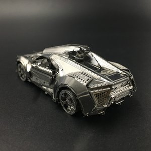 MMZ 난유 금속 성인 Y200414에 대한 Hypersport 레이싱 자동차 조립 DIY 3D 레이저 컷 모델 퍼즐 장난감 키트
