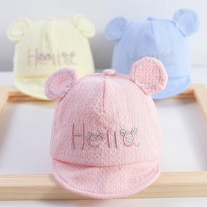 0-3 months old 4 newborn pure cotton Sunscreen cap baby cap hat baby sun hat thin cute sunscreen