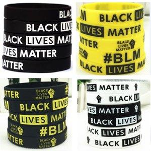 DHL Shipping Black Lives Matter Wristband Silicone Bracelet Women Men Unisex Rubber Bracelets Wristband Bangles