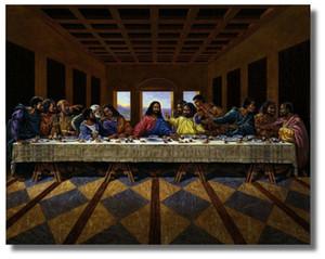 Jesus Christus Schwarzer Abendmahl Religion Inspirational Große Malerei Bild Hauptdekor-Ölgemälde auf Leinwand-Wand-Kunst-Leinwand-200709